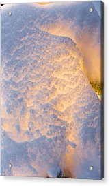 Close Up Of A Snow Covered Christmas Acrylic Print by Kevin Smith
