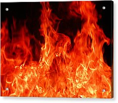 Close-up Of Fire Acrylic Print by Alex Henley / Eyeem