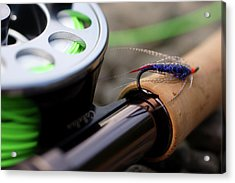 Close-up Of Fly Fishing Reel Acrylic Print