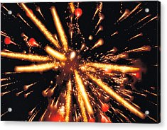 Close Up Of Ignited Fireworks Acrylic Print by Panoramic Images