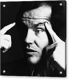 Close Up Of Jack Nicholson Acrylic Print by Jack Robinson