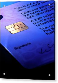 Close-up Of Part Of A Smart Card Acrylic Print by Sheila Terry/science Photo Library