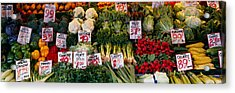Close-up Of Pike Place Market, Seattle Acrylic Print by Panoramic Images
