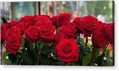 Close-up Of Red Roses In A Bouquet Acrylic Print