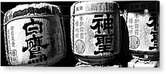 Close-up Of Three Dedicated Sake Acrylic Print by Panoramic Images