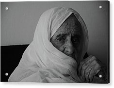 Close-up Portrait Of Senior Woman In Acrylic Print by Nabeel Yakzan / Eyeem