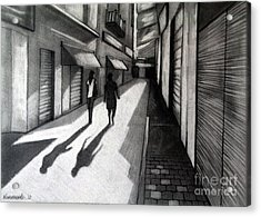 Closed Shops Acrylic Print by Kostas Koutsoukanidis