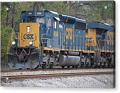Closeup Of Csx Train Engine 4044 Acrylic Print
