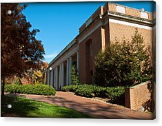 Closeup Of E H Little Library - Davidson College Acrylic Print by Paulette B Wright