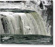 Acrylic Print featuring the photograph Closeup Of Icy Niagara Falls by Rose Santuci-Sofranko