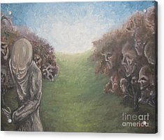 Acrylic Print featuring the painting Closure by Michael  TMAD Finney