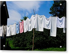 Clothes Line Acrylic Print by Bonnie Fink
