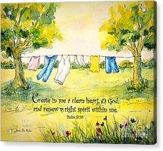 Clothesline Psalm 51 Acrylic Print