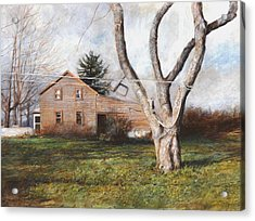 Acrylic Print featuring the painting Clothesline by Wayne Daniels