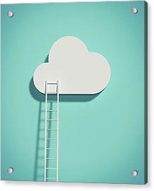 Cloud And Ladder Acrylic Print by Yagi Studio