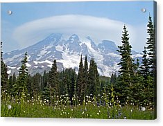 Cloud Capped Rainier Acrylic Print