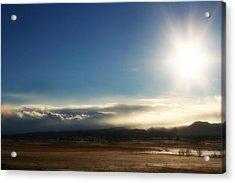 Cloud Cascades Acrylic Print by Michele Richter