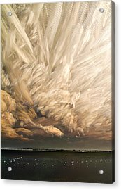 Cloud Chaos Cropped Acrylic Print by Matt Molloy