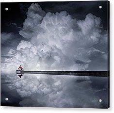Cloud Desending Acrylic Print