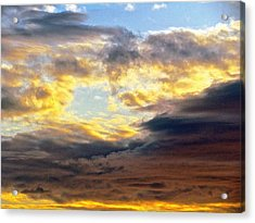 Cloud Finds Day Acrylic Print by Q's House of Art ArtandFinePhotography