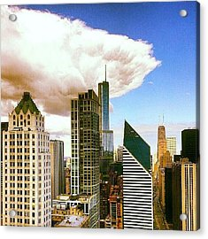 Cloud Front Rolling In Acrylic Print