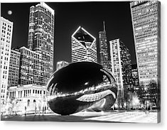 Cloud Gate Chicago Bean Black And White Picture Acrylic Print by Paul Velgos