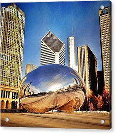 Cloud Gate chicago Bean Sculpture Acrylic Print