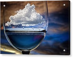 Cloud In A Glass Acrylic Print