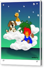 Cloud Kids Acrylic Print by Bob Winberry