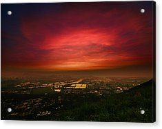 Acrylic Print featuring the photograph Cloud On Fire by Afrison Ma