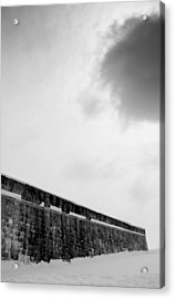 Cloud Over Quebec City Fortifications Acrylic Print by Arkady Kunysz
