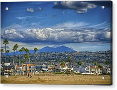 Cloud Over Saddleback Mountain Acrylic Print by Joseph Hollingsworth