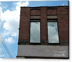 Cloud Reflection On Window Acrylic Print