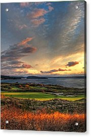 Cloud Serenity - Chambers Bay Golf Course Acrylic Print