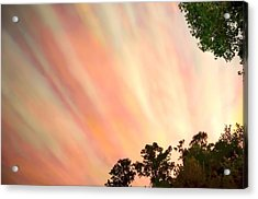 Acrylic Print featuring the photograph Cloud Streams by Charlotte Schafer
