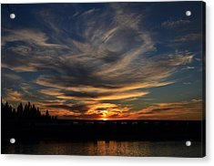 Cloud Swirl Sunset Acrylic Print
