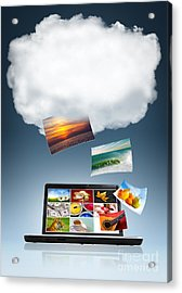 Cloud Technology Acrylic Print by Carlos Caetano