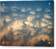 Acrylic Print featuring the photograph Cloud Texture by Shane Bechler