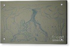 Cloud Tree Pond Acrylic Print by James Eye