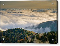 Acrylic Print featuring the photograph Cloud Valley by Serge Skiba