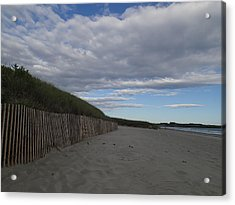 Acrylic Print featuring the photograph Clouded Beach by Robert Nickologianis