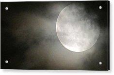 Clouded Moon Acrylic Print