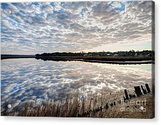 Clouded Reflection Acrylic Print by Joan McCool