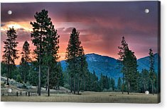 Acrylic Print featuring the photograph Clouded Sunrise by Julia Hassett