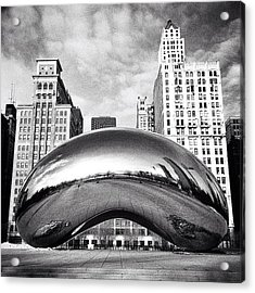 Chicago Bean Cloud Gate Photo Acrylic Print by Paul Velgos