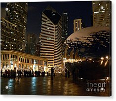 Cloudgate In Snow Acrylic Print by David Bearden