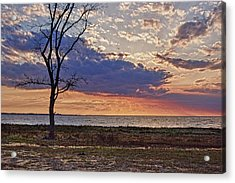 Clouding Up On Oyster Bay Acrylic Print