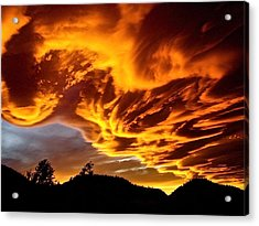 Acrylic Print featuring the photograph Clouds 2 by Pamela Cooper