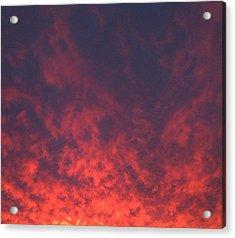 Clouds Ablaze Acrylic Print
