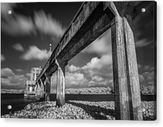Clouds Above The Bridge Acrylic Print